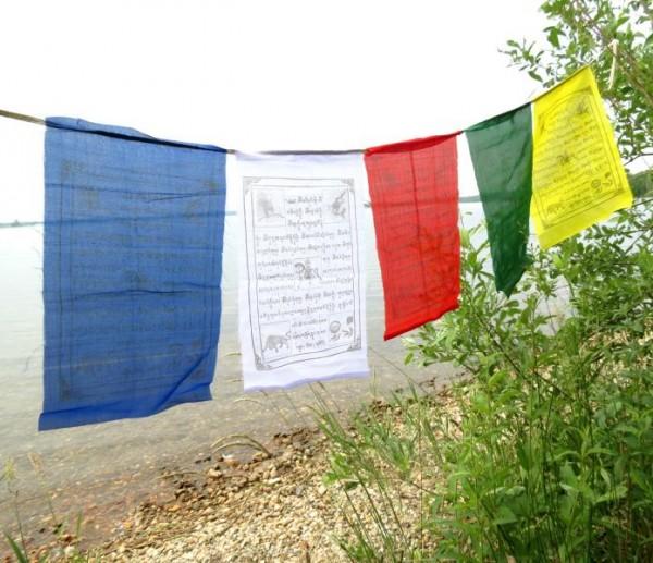 Tibetische Gebetsfahnen 5 Wimpel, 150cm