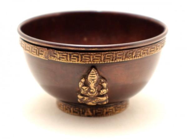 Ganesha Räucherschale aus Kupfer