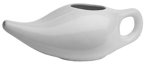 Nasenspüler / Nasenkännchen weiße Keramik groß