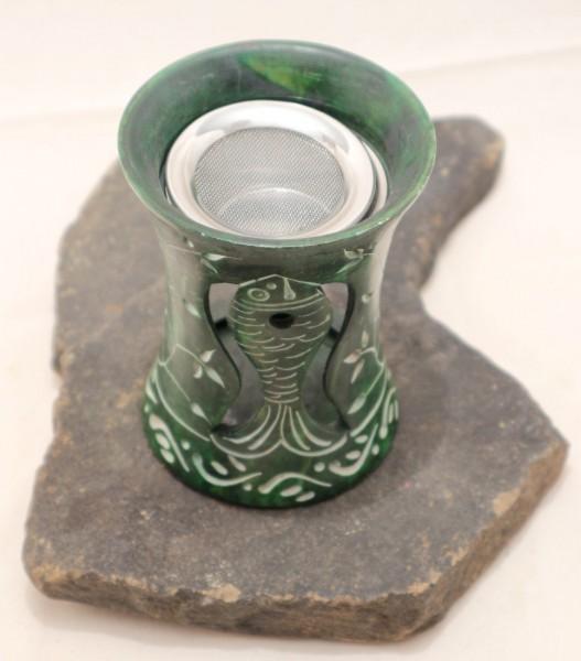 Speckstein Räucherstövchen mittel grün