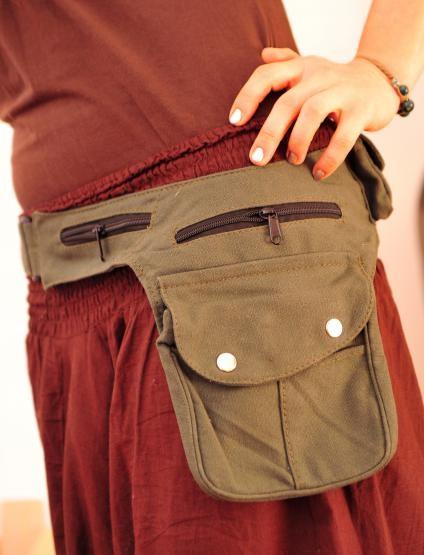 Gürteltasche Sidebag Klettverschluss