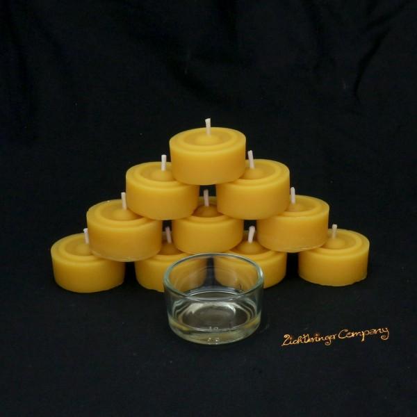 Bienenwachs Teelichte handgefertigt von der Lichtbringer Company