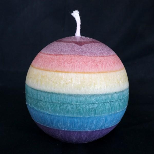 Regenbogen Duftkerze Kugel aus Stearin