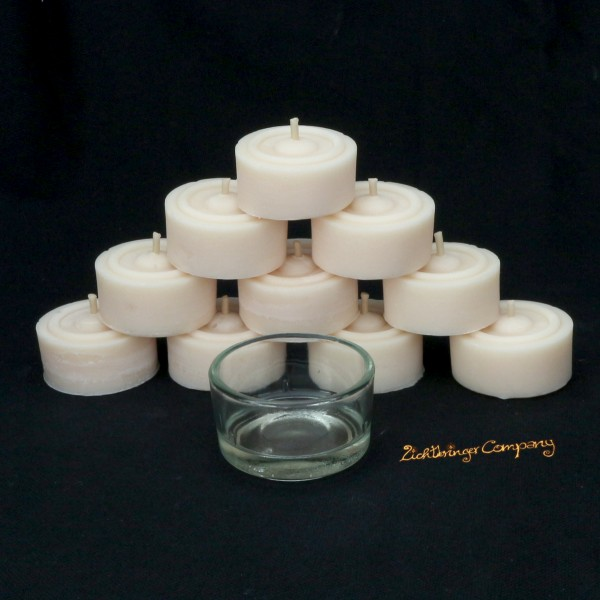 Rapswachs Teelichte von der Lichtbringer Company