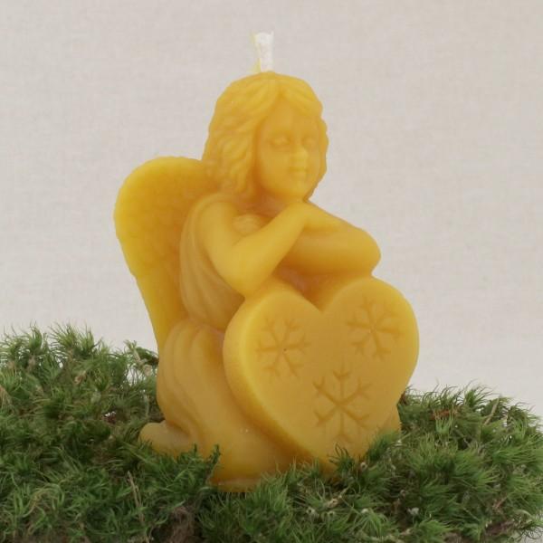 Friedensengel Kerze aus Bienenwachs