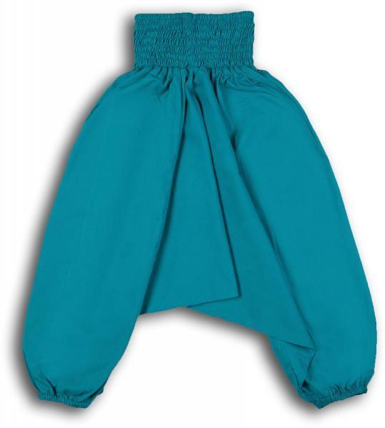Aladinhose oder Muckhose Kind 3-5 Jahre Kindergrösse S - türkis