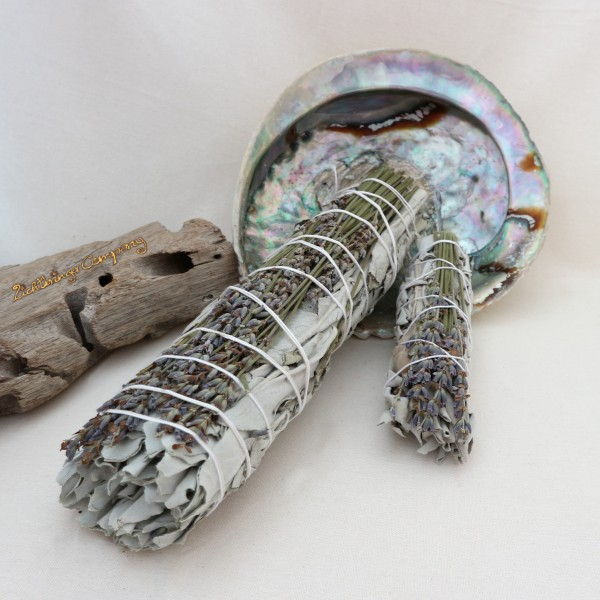 Weißer Salbei mit Lavendel Räucherbündel Räucherstick