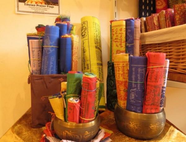 Tibetische Gebetsfahnen Buddha 10 Wimpel Baumwolle