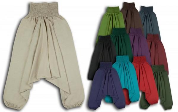 Aladinhose Pluderhose Yogahose breiter Bund - robust