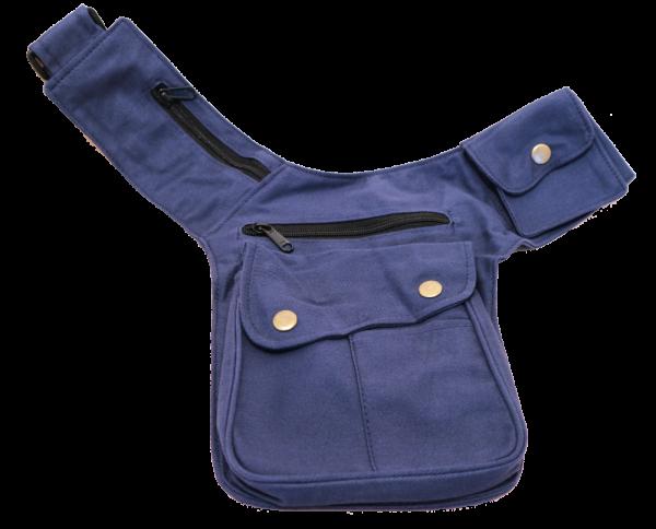 Gürteltasche Sidebag Klettverschluss dunkelblau